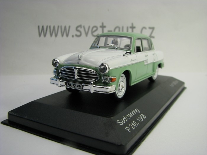 Sachsenring P240 1958 Green White 1:43 White Box